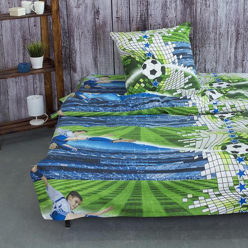 Детское постельное белье из поплина 1.5 сп 1693 Футбол фото 1