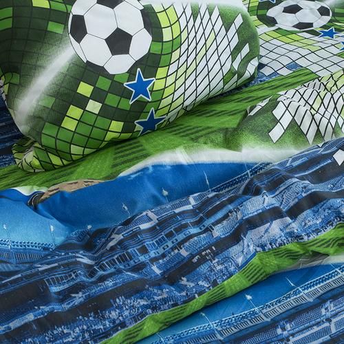 Детское постельное белье из поплина 1.5 сп 1693 Футбол фото 4