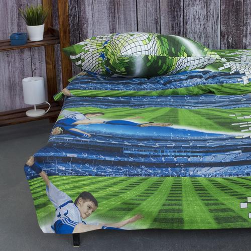 Детское постельное белье из поплина 1.5 сп 1693 Футбол фото 3