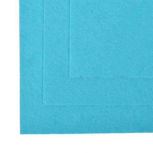 Фетр листовой мягкий IDEAL 1 мм 20х30 см FLT-S1 упаковка 10 листов цвет 615 голубой фото 1