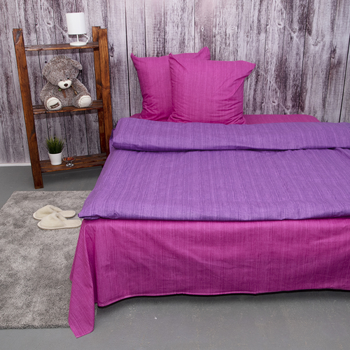 Постельное белье из перкаля Эко Фиолетовый закат Евро с нав 50/70 фото 4