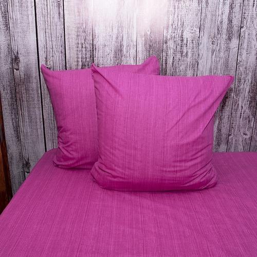 Постельное белье из перкаля Эко Фиолетовый закат Евро с нав 50/70 фото 5