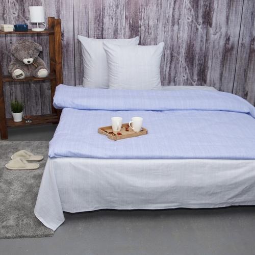 Постельное белье из перкаля Эко Нежность 2-х сп с евро простыней фото 1