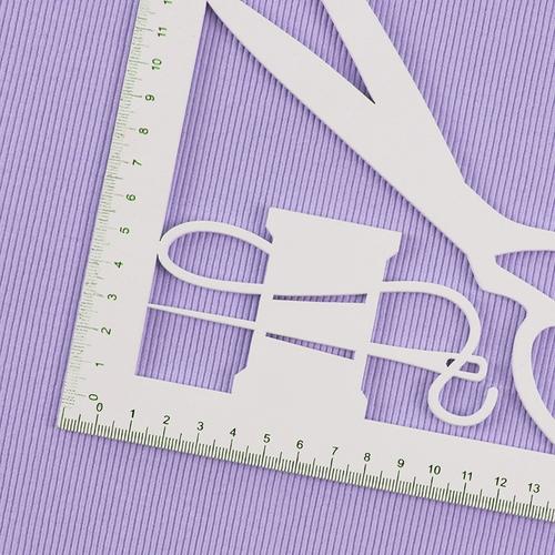 Ткань на отрез кашкорсе 3-х нитка с лайкрой 6855-1 цвет светло-лиловый фото 3