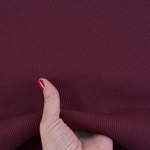 Ткань на отрез кашкорсе 3-х нитка с лайкрой цвет бордовый фото 3