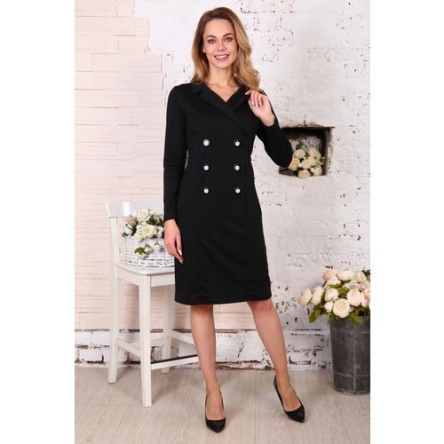 Платье Пиджак черное Д507 р 44 фото 1