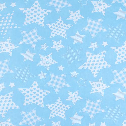 Ткань на отрез бязь плательная 150 см 1683/7 цвет бирюза фото 1