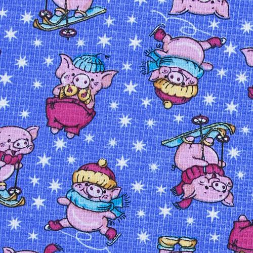 Ткань на отрез вафельное полотно набивное 150 см 1057/1 Веселая прогулка цвет голубой фото 2