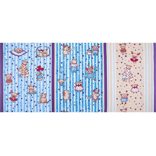 Ткань на отрез вафельное полотно набивное 150 см 1089/2 Звездная семья цвет бежевый фото 2