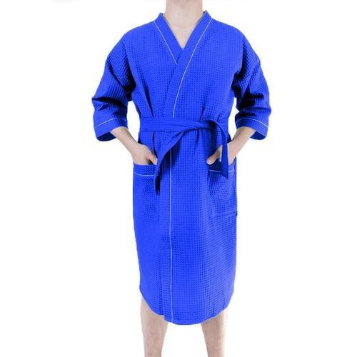 Халат мужской вафельный синий премиум р 52 фото 1