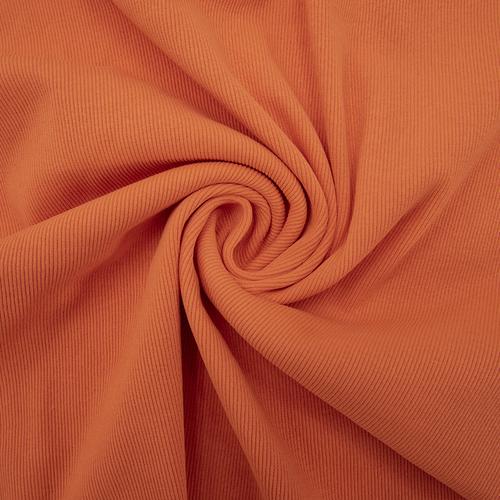 Ткань на отрез кашкорсе с лайкрой цвет Оранжевый фото 1