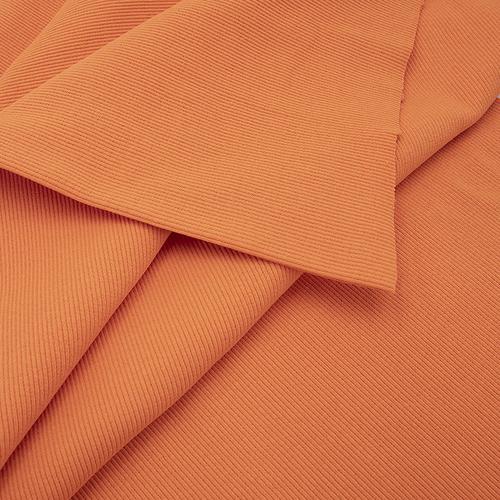 Ткань на отрез кашкорсе с лайкрой цвет Оранжевый фото 2
