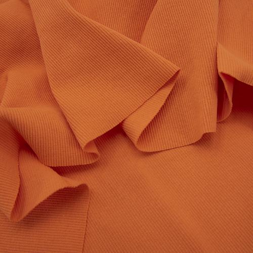Ткань на отрез кашкорсе с лайкрой цвет Оранжевый фото 3