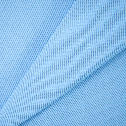 Ткань на отрез кашкорсе с лайкрой 5699-1 цвет голубой фото 1