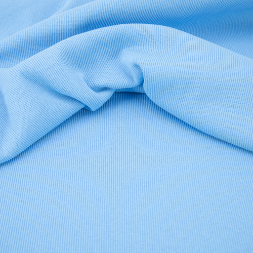 Ткань на отрез кашкорсе с лайкрой 5699-1 цвет голубой фото 2