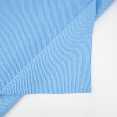 Ткань на отрез кашкорсе с лайкрой 5699-1 цвет голубой фото 4