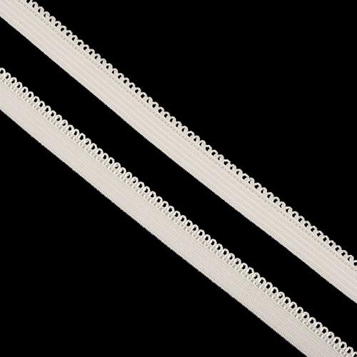 Резинка TBY бельевая 10 мм RB03103 цвет F103 молочный 1 метр фото 1