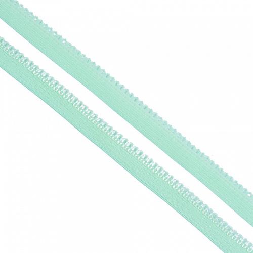 Резинка TBY бельевая 10 мм RB03199 цвет F199 мятный 1 метр фото 1