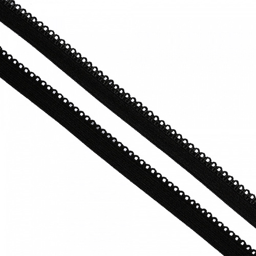 Резинка TBY бельевая 10 мм RB03322 цвет F322 черный 1 метр фото 1