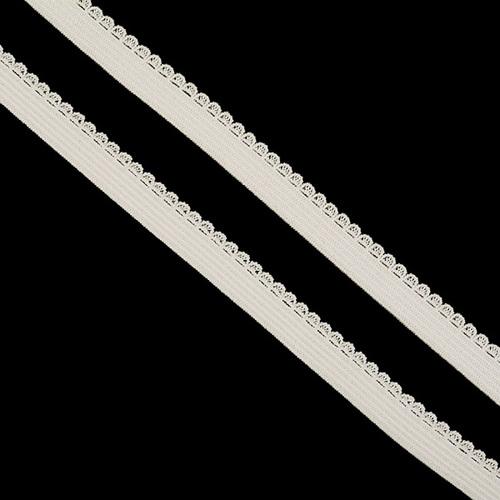 Резинка TBY бельевая 8 мм RB02103 цвет F103 молочный 1 метр фото 1