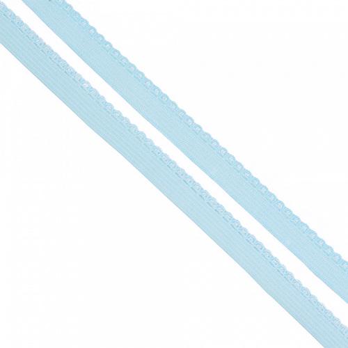 Резинка TBY бельевая 8 мм RB02183 цвет F183 голубой 1 метр фото 1