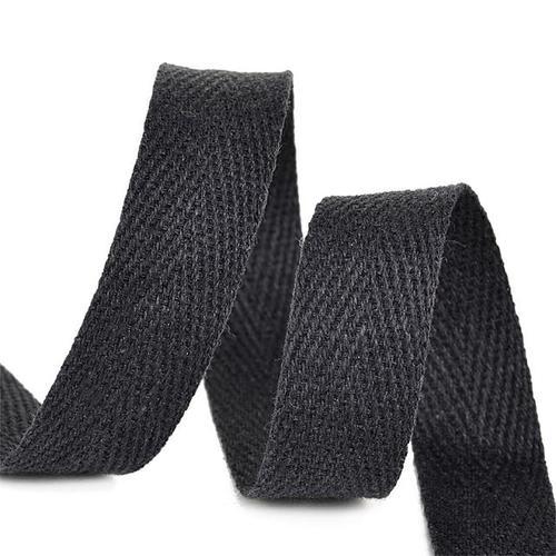 Тесьма киперная 15 мм хлопок 1,9г/см арт.ЛКЭ-15ЧХ-50 цв.черный фото 1