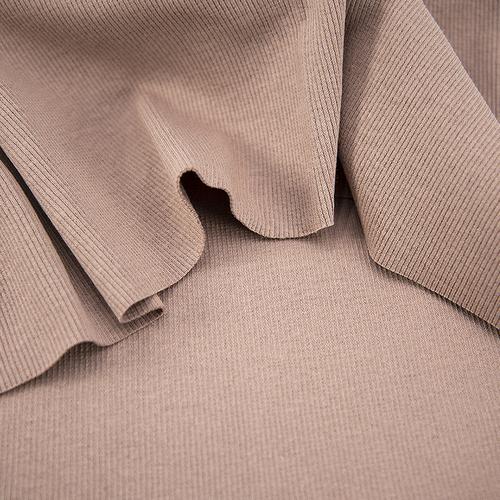 Ткань на отрез кашкорсе с лайкрой цвет светло-коричневый фото 2