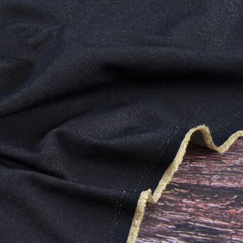 Маломеры джинса двусторонняя 320 г/м2 стрейч AT0268 цвет черный 1 м фото 1