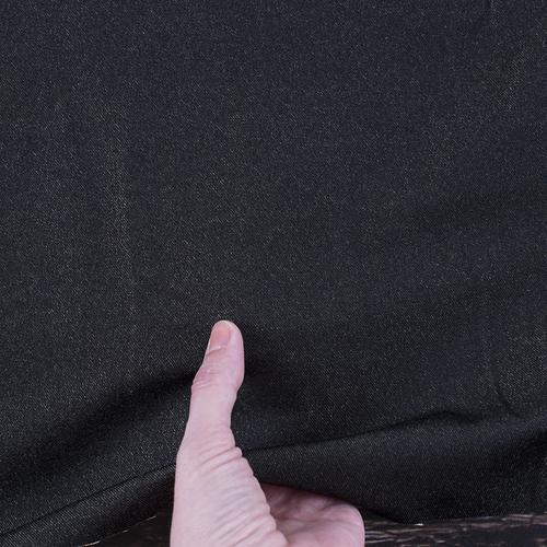 Маломеры джинса двусторонняя 320 г/м2 стрейч AT0268 цвет черный 1 м фото 2