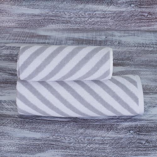 Полотенце махровое МХ-42 Круиз диагональ 50/90 см цвет серебро фото 1