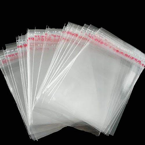 Полипропиленовый упаковочный пакет с клеевым клапаном 30 мкр 220х450+50 мм фото 2