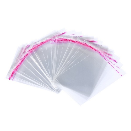 Полипропиленовый упаковочный пакет с клеевым клапаном 30 мкр 300х450+50мм фото 1