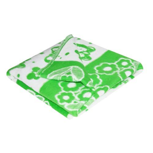Одеяло детское байковое жаккардовое 140/100 см зеленый фото 1