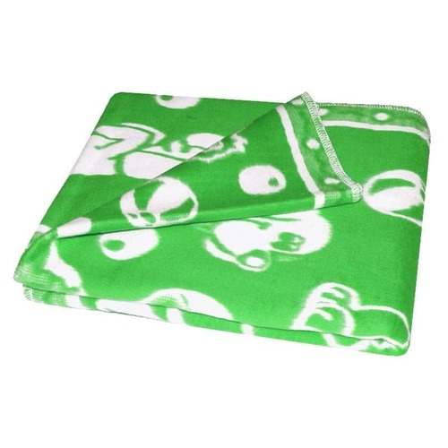 Одеяло детское байковое жаккардовое 140/100 см зеленый фото 2