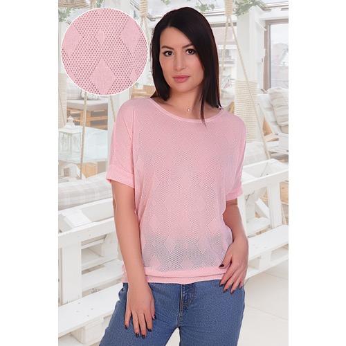 Блузка Ажур 11012 розовая р 44 фото 1