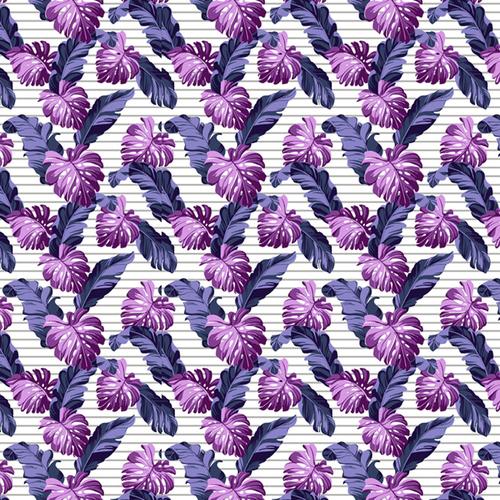 Ткань на отрез вафельное полотно набивное 150 см 3014/2 Тропики фото 1