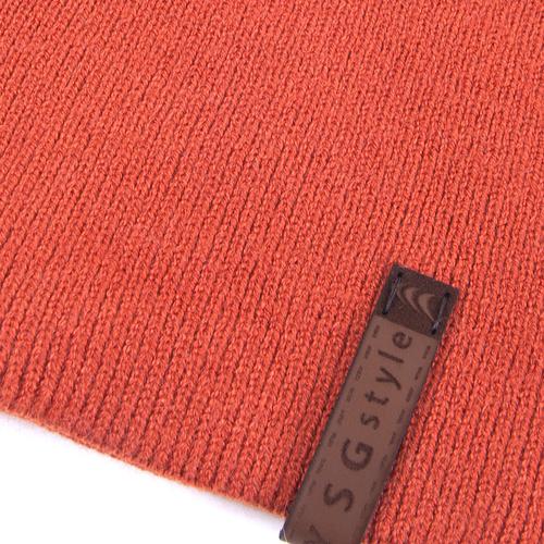 Шапка женская 2 цвет оранжевый фото 2