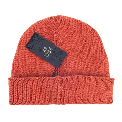 Шапка женская 2 цвет оранжевый фото 3