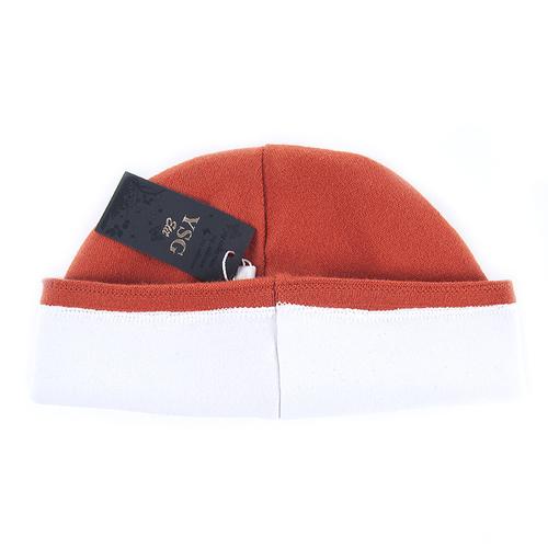 Шапка женская на подкладке 4 цвет оранжевый фото 3
