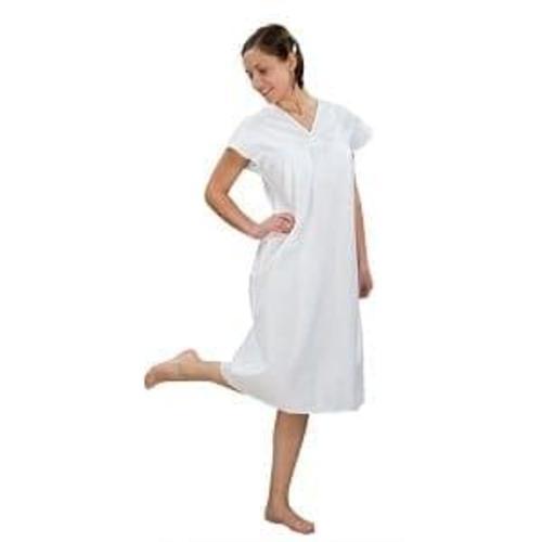 Сорочка женская ночная, бязь отбеленная 100% хлопок, 56-58 фото 1