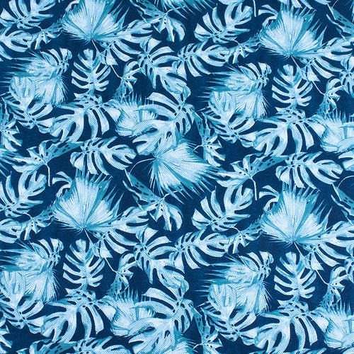 Ткань на отрез интерлок пенье Монстера мятная R-R6058-V1 фото 1