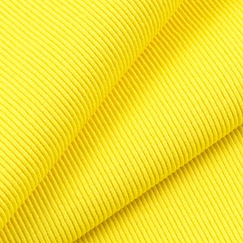 Ткань на отрез кашкорсе с лайкрой 2210-1 цвет желтый 2 фото 1