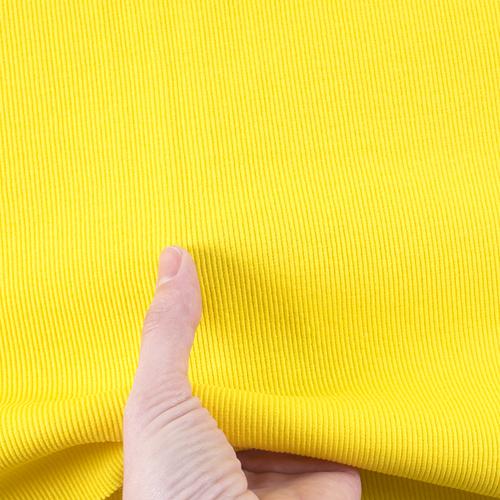 Ткань на отрез кашкорсе с лайкрой 2210-1 цвет желтый 2 фото 5