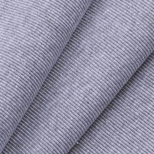 Ткань на отрез кашкорсе с лайкрой М-2000 серый меланж 2 фото 1