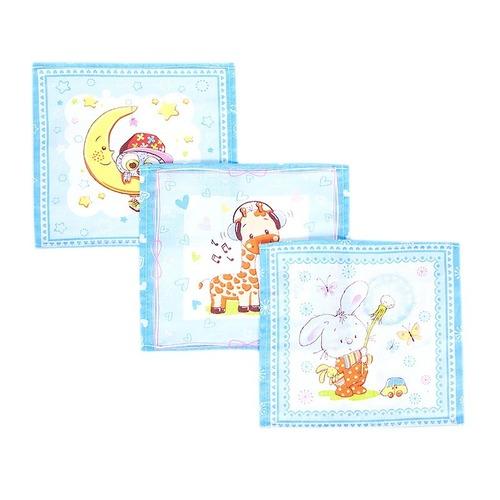 Платок носовой детский ситец 18900/1 10 шт голубой фото 1