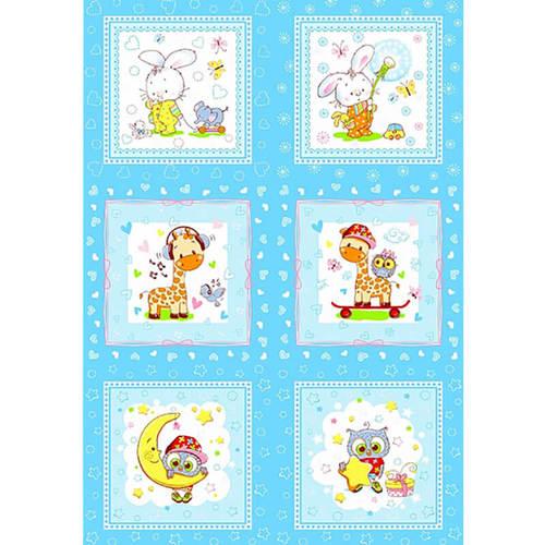 Платок носовой детский ситец 18900/1 10 шт голубой фото 2
