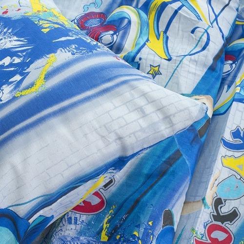 Детское постельное белье из поплина 1.5 сп 1643 фото 3