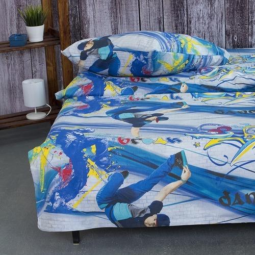 Детское постельное белье из поплина 1.5 сп 1643 фото 2