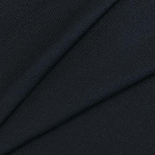 Ткань на отрез кулирка с лайкрой цвет черный фото 1