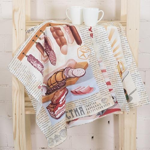 Набор вафельных полотенец 3 шт 50/60 см 30189/1 Советские деликатесы фото 4